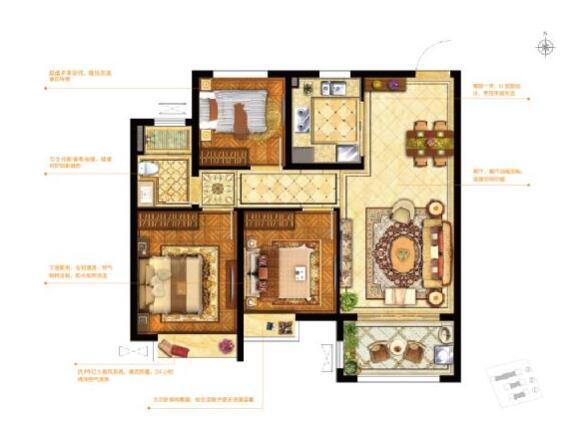 房子三房一厅设计图