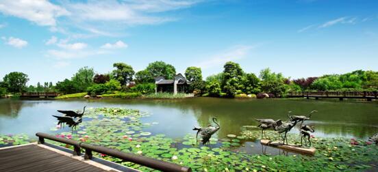 星河湾半岛,是广州城内一处自然,城市,人文三重结合的写意山水园林.