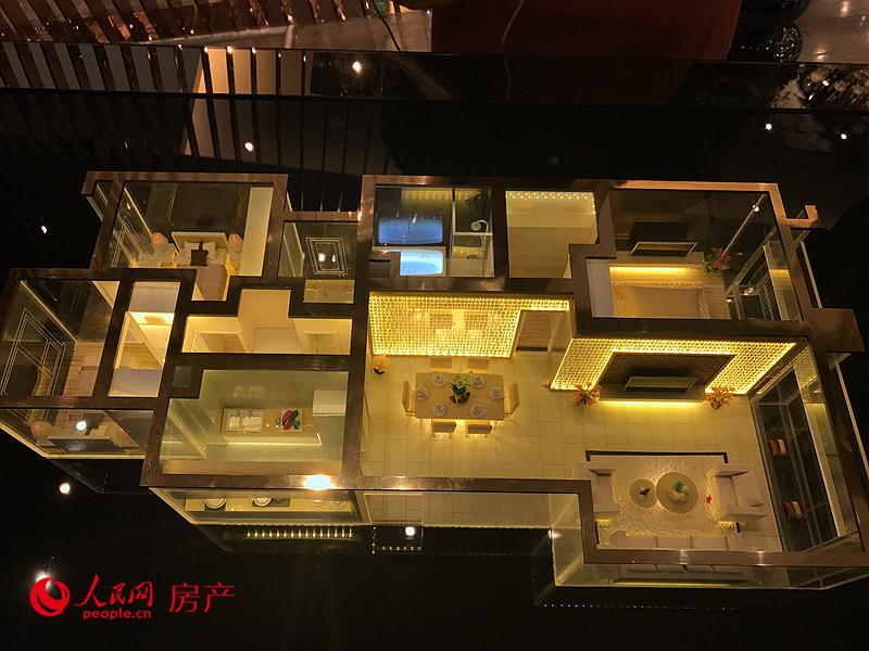 售楼处内样板间空间示意图。