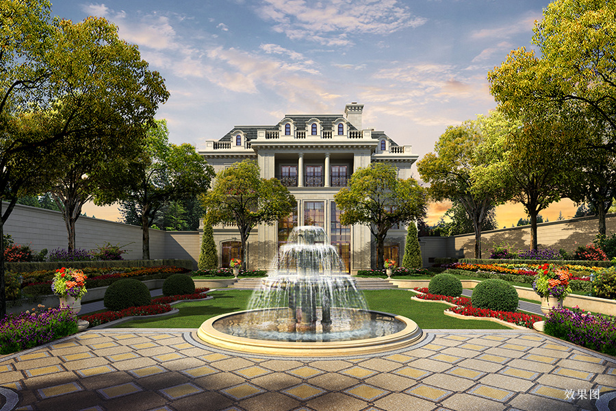 北京庄园由233栋纯独栋别墅组成,精装修交付,为了实现顶级豪宅居住