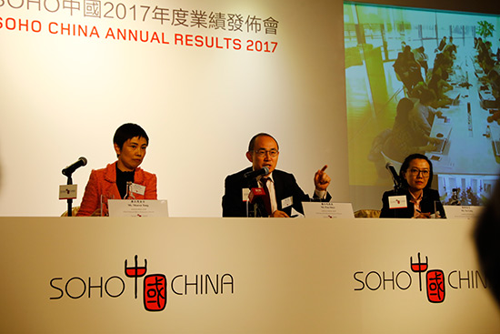 SOHO中国2017年净利润超47亿元 潘石屹:北京光华路SOHO不卖了