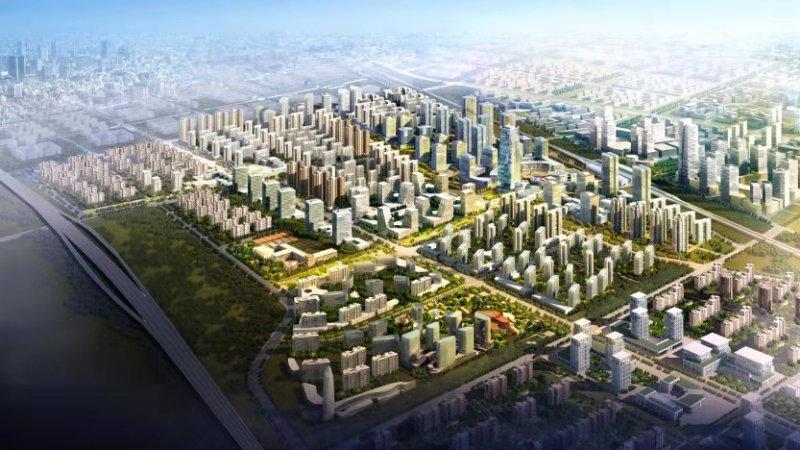 京涿高铁新城规划图 (