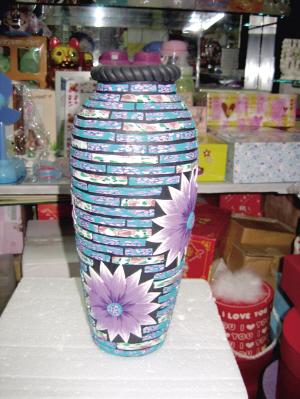 手工軟陶花瓶圖片