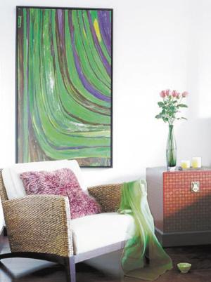 用墙上艺术装点秋冬居室
