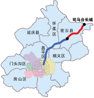 其中,穿越司马台古长城风景旅游区的隧道长2.